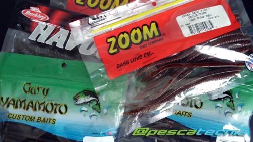 Señuelos de vinilo para la pesca del Black Bass